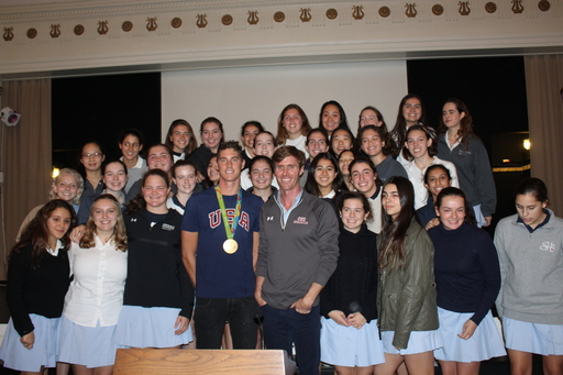 Olympic Gold Medalist Conor Dwyer Visits Upper School